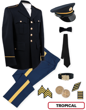 Enlisted Male Dress Blue Premier Package NCO CPL-CSM with Cap