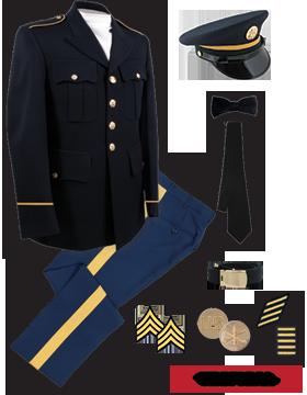 Male Dress Blue Package Premier NCO CPL-SFC with Cap