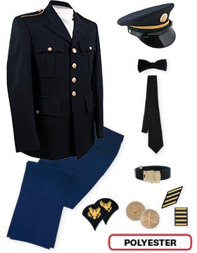 Enlisted Male Dress Blue Colonial Package Jr. PVT-SPC with Cap
