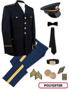 Enlisted Male Dress Blue Colonial Package NCO CPL-CSM with Cap