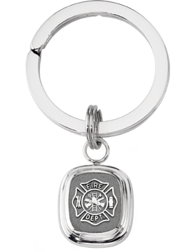 Fire Department Key Ring Style 14 Sterling Silver