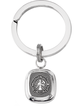Fire Rescue Key Ring Style 14 Sterling Silver