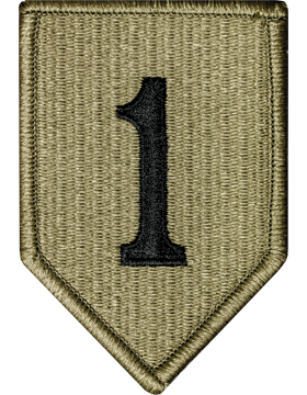 1st Infantry Division Scorpion Patch with Fastener