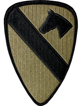 1st Cavalry Division Scorpion Patch with Fastener
