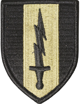1st Signal Brigade Scorpion Patch with Fastener