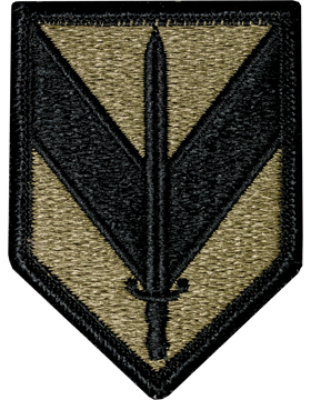 1st Sustainment Brigade Scorpion Patch with Fastener