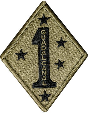 1st Marine Division Scorpion Patch with Fastener
