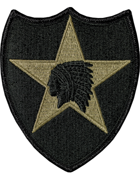 2nd Infantry Divison Scorpion Patch with Fastener