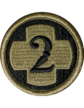 0002 Medical Bde with Tab Scorpion Patch with Fastener (PMV-0002I)