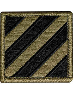 3rd Infantry Divison Scorpion Patch with Fastener