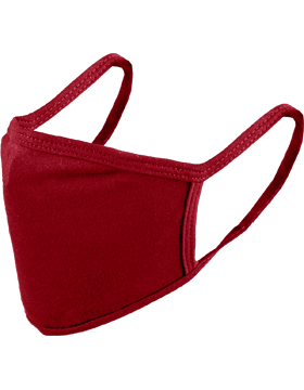 Antimicrobial Cloth Face Mask Red with Matching Ear Straps