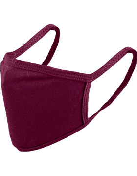 Antimicrobial Cloth Face Mask Burgundy with Matching Ear Straps