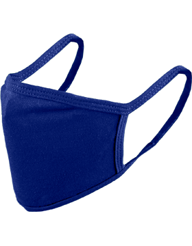 Antimicrobial Cloth Face Mask Royal Blue with Matching Ear Straps