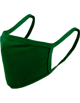 Antimicrobial Cloth Face Mask Green with Matching Ear Straps
