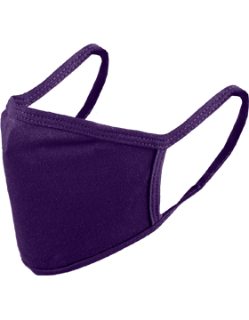 Antimicrobial Cloth Face Mask Purple with Matching Ear Straps