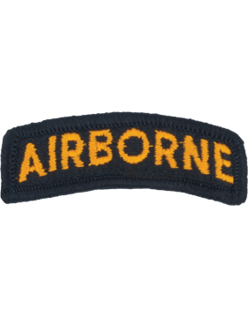 Airborne Tab (PT-101-F) Full Color Gold on Black with fastner