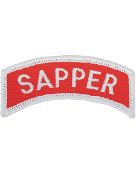 Sapper Tab (PT-SAPPER) Full Color Red with White Letters
