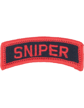 Sniper Tab (PT-SNIPER) Full Color Red on Black with Red Merrow