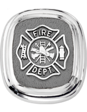 Fire Department Tie Tac Style 4 Sterling Silver small