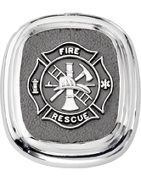 Fire Rescue Tie Tac Style 4 Sterling Silver