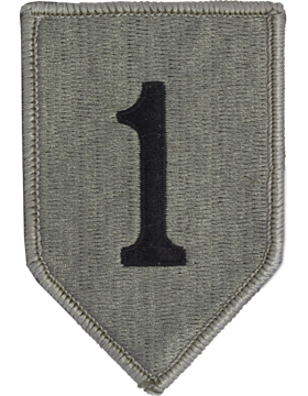 1st Infantry Division ACU Patch with Fastener