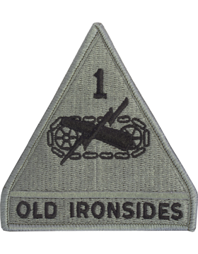 1st Armored Division ACU Patch with Fastener