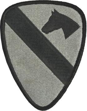 1st Cavalry Division ACU Patch with Fastener