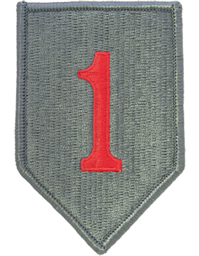 0001 Infantry Division ACU Patch (Red One) with Fastener (PV-0001P)