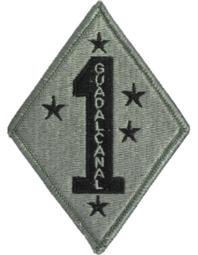 0001 Marine Division Patch with Fastener (PV-0001U)