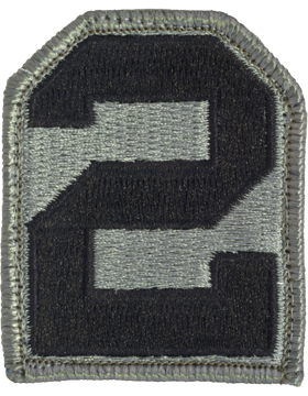 2nd Army ACU Patch with Fastener