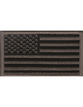 ACU American Flag Patch with Fastener Forward