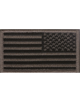 ACU American Flag Patch with Fastener Reverse