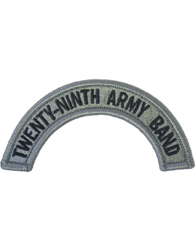 29th Army Band Tab with Fastener