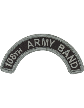 108th Army Band Tab with Fastener