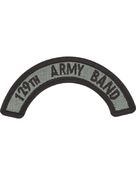 129th Army Band Tab with Fastener