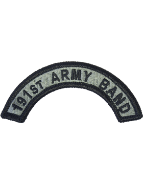 191st Army Band Tab with Fastener
