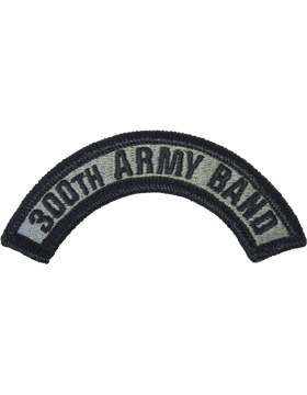 300th Army Band Tab with Fastener