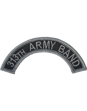 313th Army Band Tab with Fastener