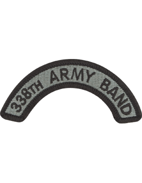 338th Army Band Tab with Fastener
