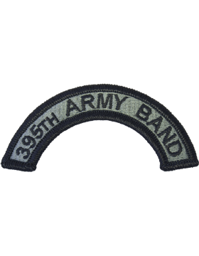 395th Army Band Tab with Fastener