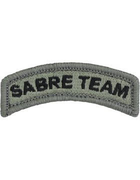 Sabre Team Tab with Fastener