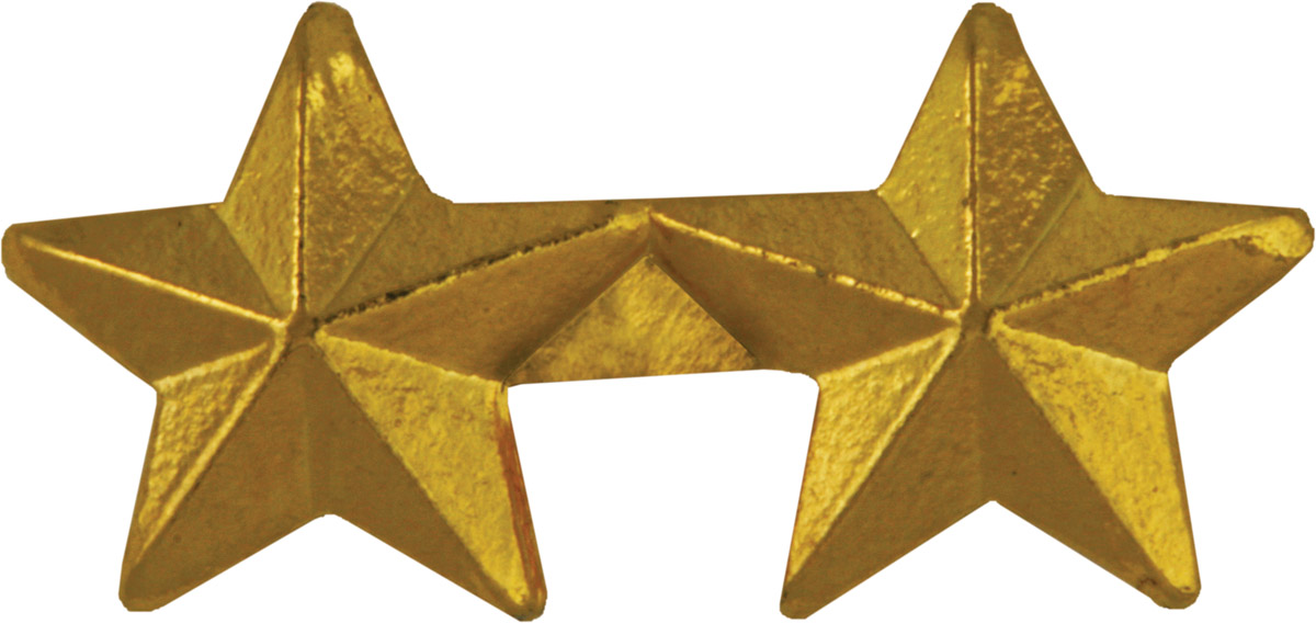 Ribbon Device 5/16 Gold Two Star