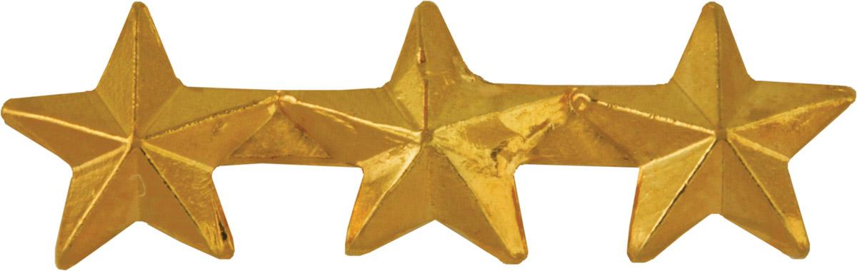 Ribbon Device 5/16 Gold Three Star