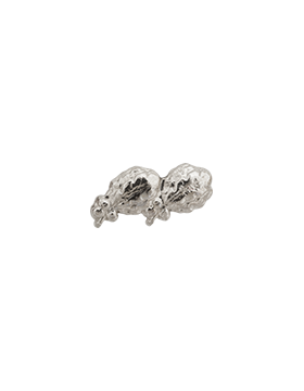 Ribbon Device, Silver Oak Leaf Cluster 2-On