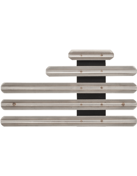 12 Ribbon Mount Eighth Inch Gap Staggered Right Metal