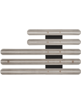 13 Ribbon Mount Eighth Inch Gap Staggered Right Metal