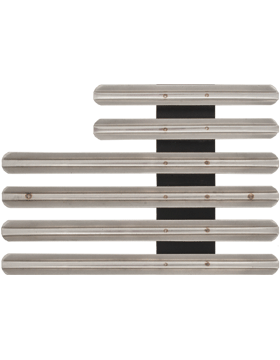 16 Ribbon Mount Eighth Inch Gap Staggered Right Metal