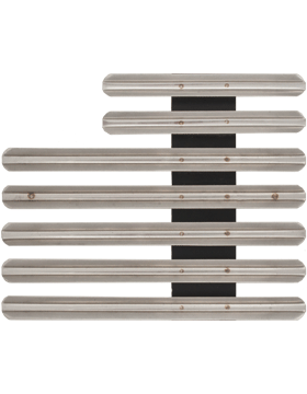 19 Ribbon Mount Eighth Inch Gap Staggered Right Metal
