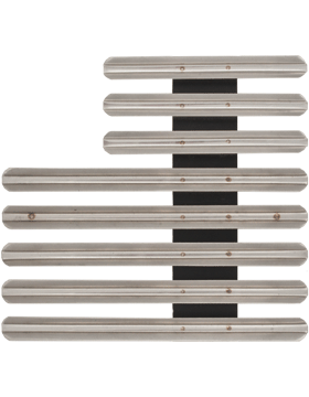 21 Ribbon Mount Eighth Inch Gap Staggered Right Metal