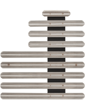 22 Ribbon Mount Eighth Inch Gap Staggered Right Metal